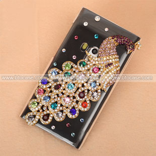 cases nokia n9 nokia n9 luxury bling diamond peacock hard back cover